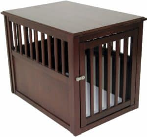 Crown Wooden Dog Crate Table