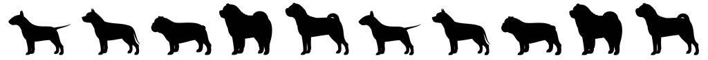Dog Silhouettes Background Medium