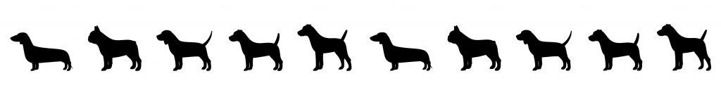 Dog Silhouettes Background Medium Small