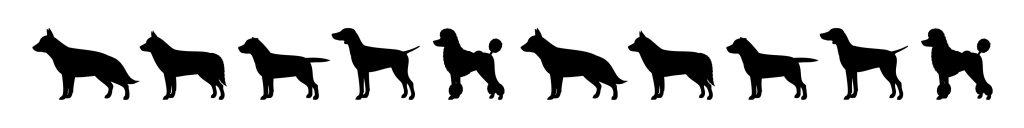Dog Silhouettes Large Dogs