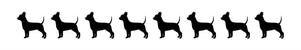 HR Chihuahua Dog Silhouettes