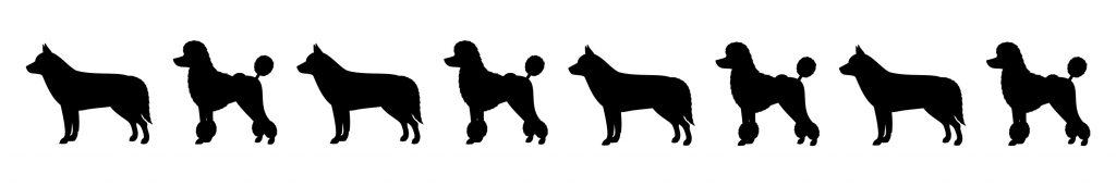 HR Husky Poodle Silhouettes