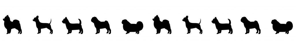 Small Dog Silhouettes